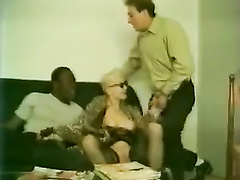 Retro french milf interracial cuckolding with hubby
