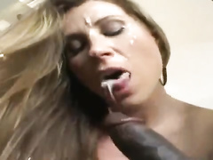 Mind-blowing pale-skinned mammy hot wife is  by big black cock boy