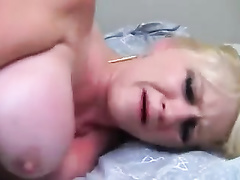 Big titted blonde mom interracial BBC DAP w two young bulls