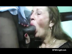 Sexy grandma enjoying deep fucking with a BBC bull