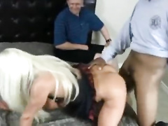 Eager cuck watches his milf wife getting BBC creampie