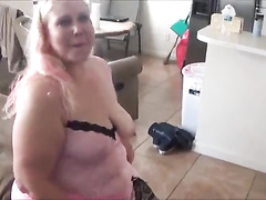 Chubby wife Deana Minaj fucks a BBC in front of her hubby