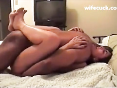 Bendy amateur wife gets filled up with black seed
