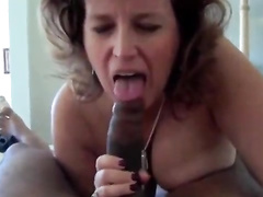 Big booty granny sucking BBC and riding it in cowgirl