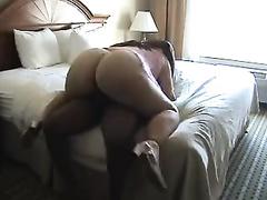 Massive ass MILF rides some black cock