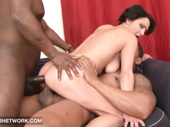 Mature mom rough interracial double penetration