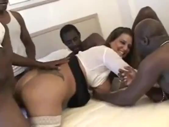 Pierced nipples white milf bbc interracial gangbang