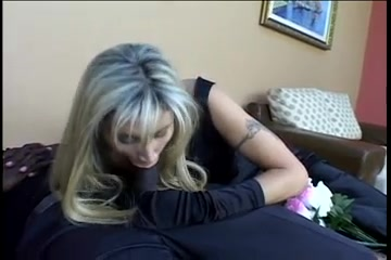 Blonde white widow mom fucks w bbc in front of son