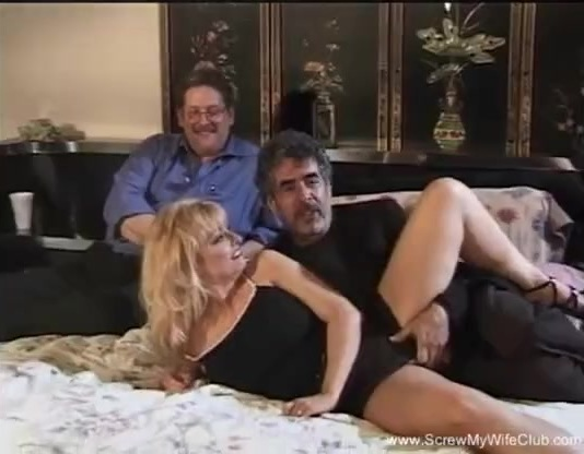 Mature blond wife milf gets interracial cuckold threesome