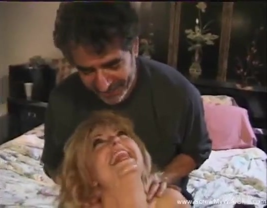 Mature blond wife milf gets interracial cuckold threesome