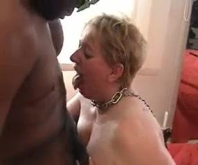 French mature bbw cumslut for blacks gets humiliated hard