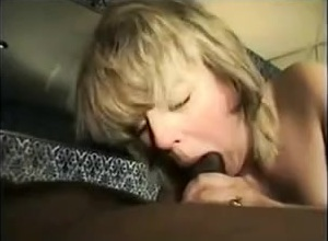 Amateur white slutwife sucks and fucks bbc