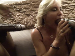 Beautiful hotwifey and her fir threesome with two big black cocks