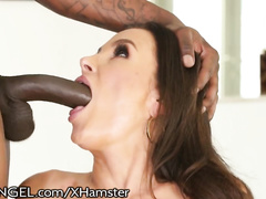 Lisa Ann gets hardcore interracial double penetration