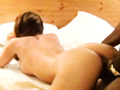 Sexy white wife gets bbc gangbang on business trip