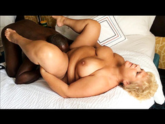 Chubby mature mom gets licked by black lover